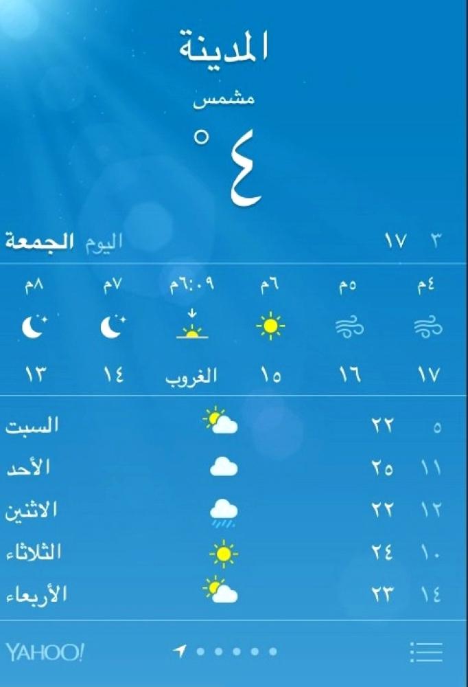 المدينة لأول مرة درجة البرودة 4 أخبار السعودية صحيفة عكاظ