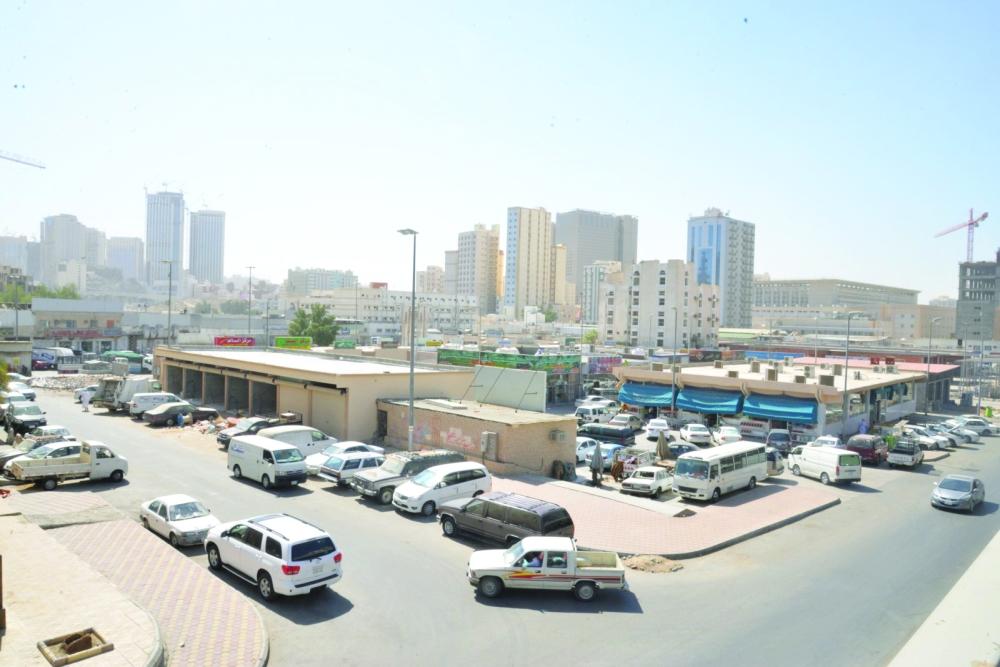 منظر عام لأسواق جرول في مكة المكرمة.