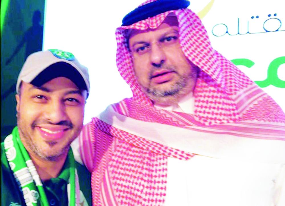 الأمير عبدالله بن مساعد مع باسعد .