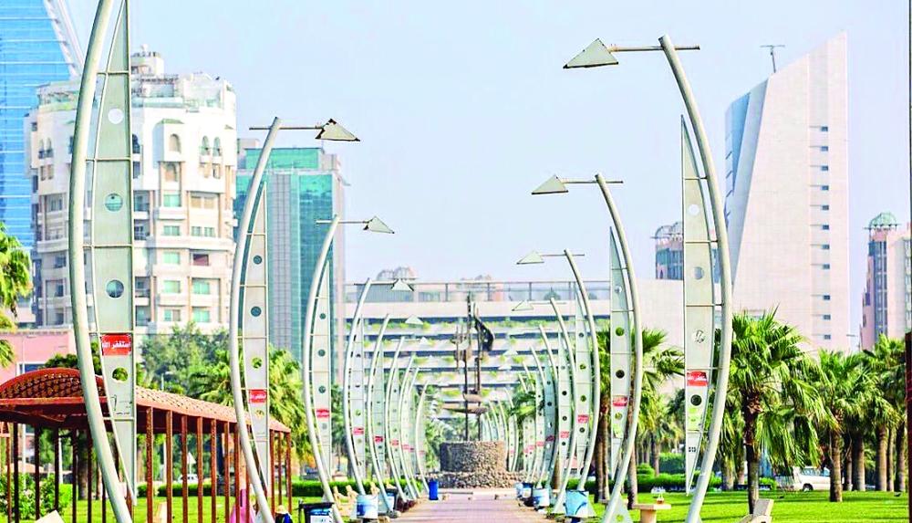 ممشى شارع الأمير فيصل بن فهد. (عكاظ)