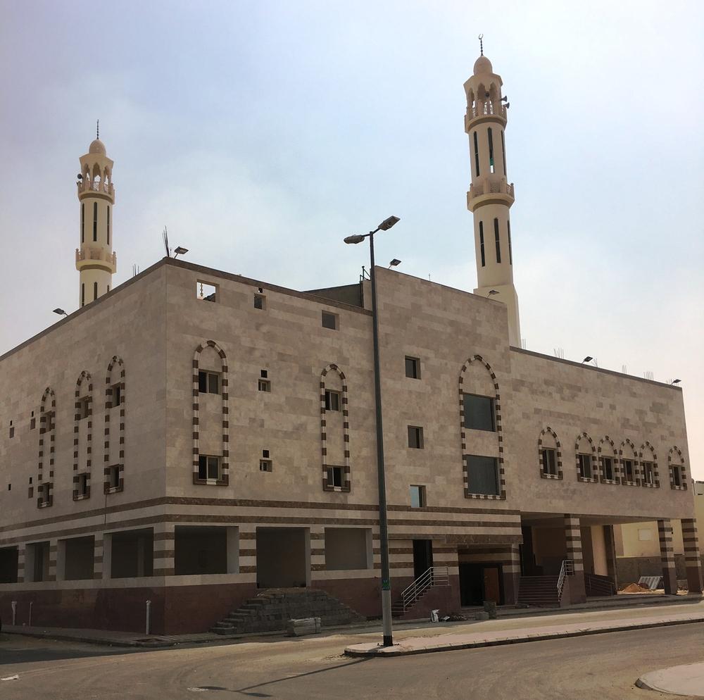 المسجد بعد الانتهاء منه. (تصوير: محمد فلاتة)