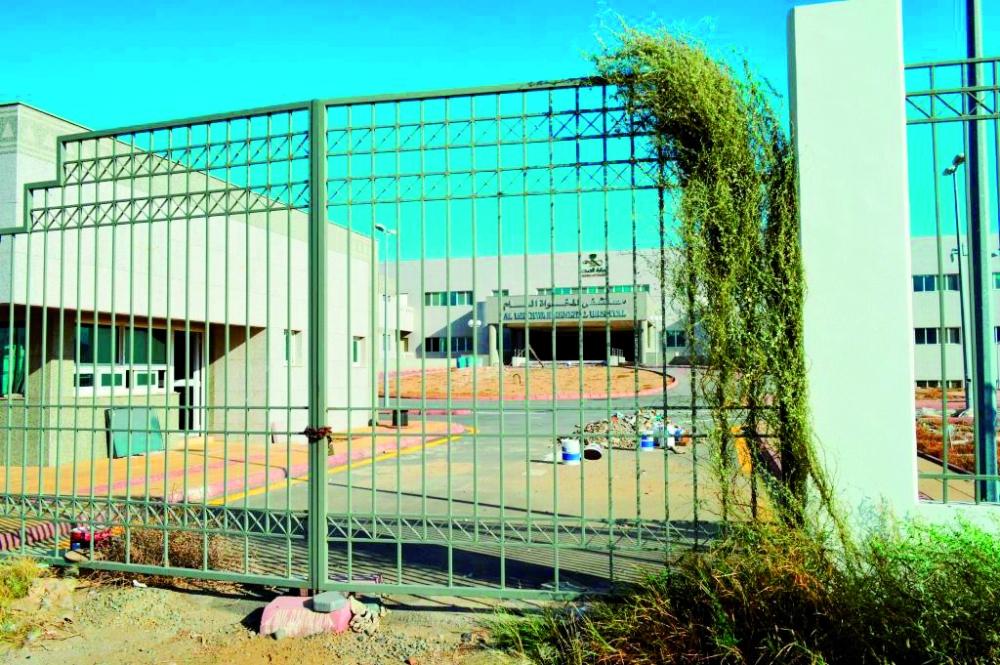 مستشفى المخواة العام لم يفتتح رغم اكتماله. (تصوير: عبدالرحمن حمياني)