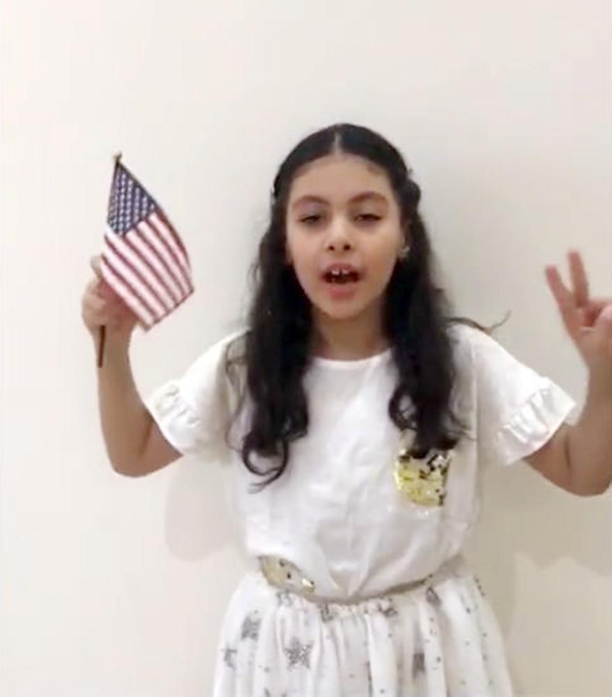 أطفال السعودية: أهلاً بك ترمب
