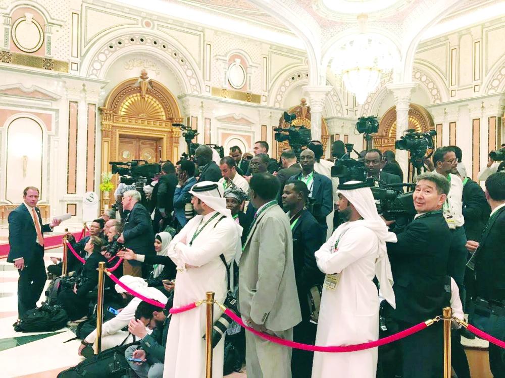 غطى حدث الرياض الكبير مئات المصورين والصحفيين.