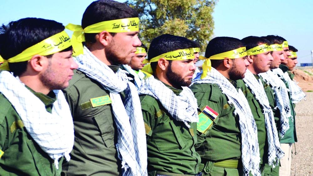 عناصر من ميليشيات الحشد في الموصل.  (عكاظ)