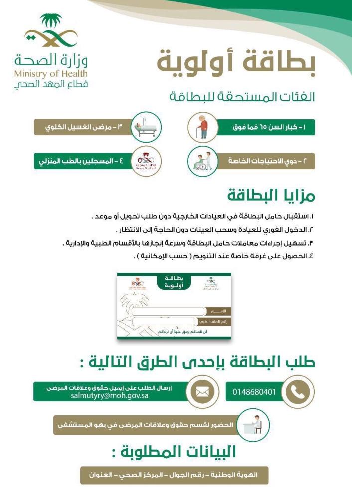 على خطى ساجر المهد يطبق الأولوية للخدمات الصحية أخبار السعودية صحيفة عكاظ