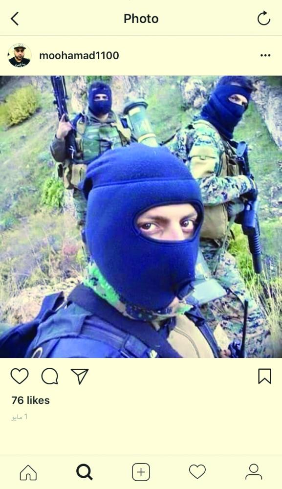 الهالك نشر صورا وهو يتدرب في موقع عسكري خارج المملكة. (عكاظ)