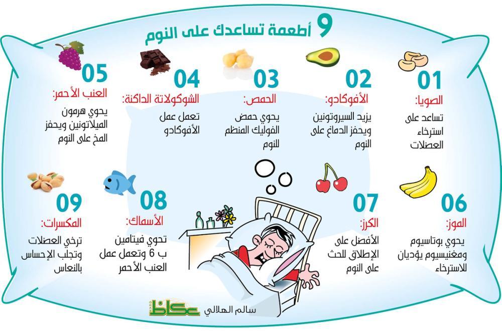 9 أطعمة تساعدك على النوم