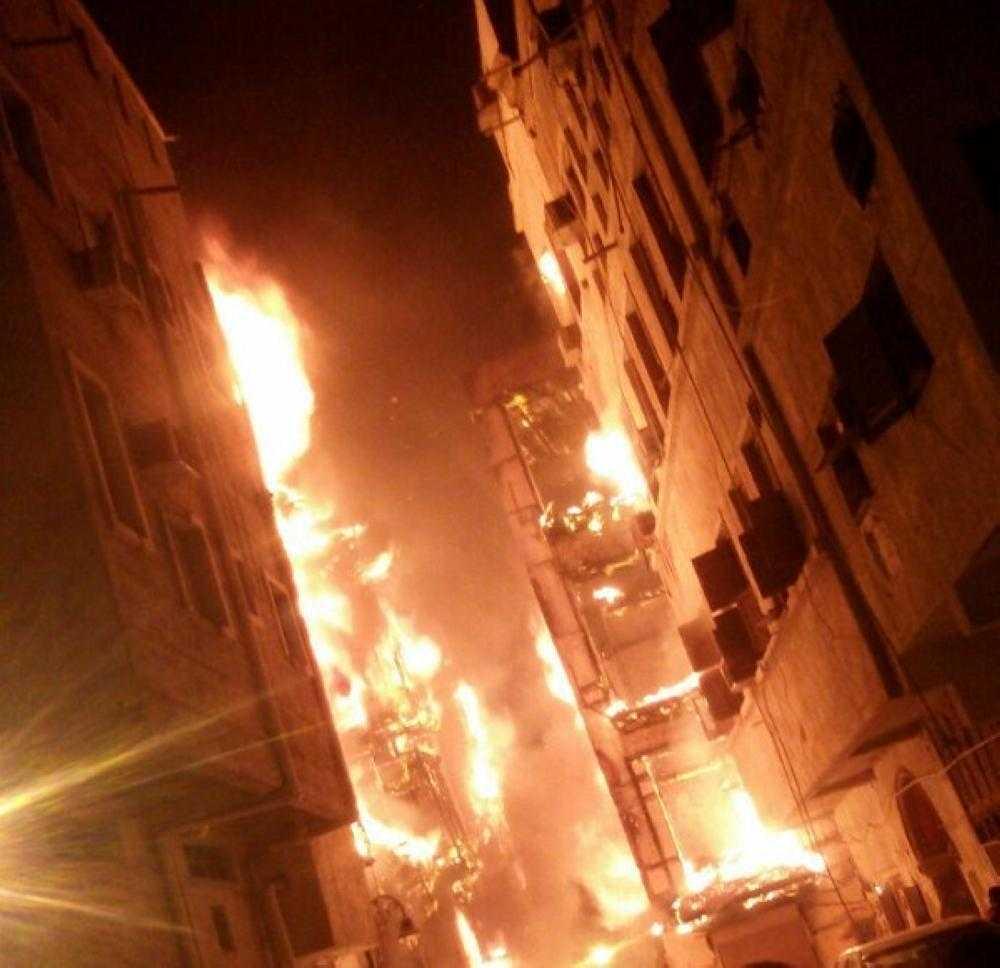 حريق في جدة التاريخية
