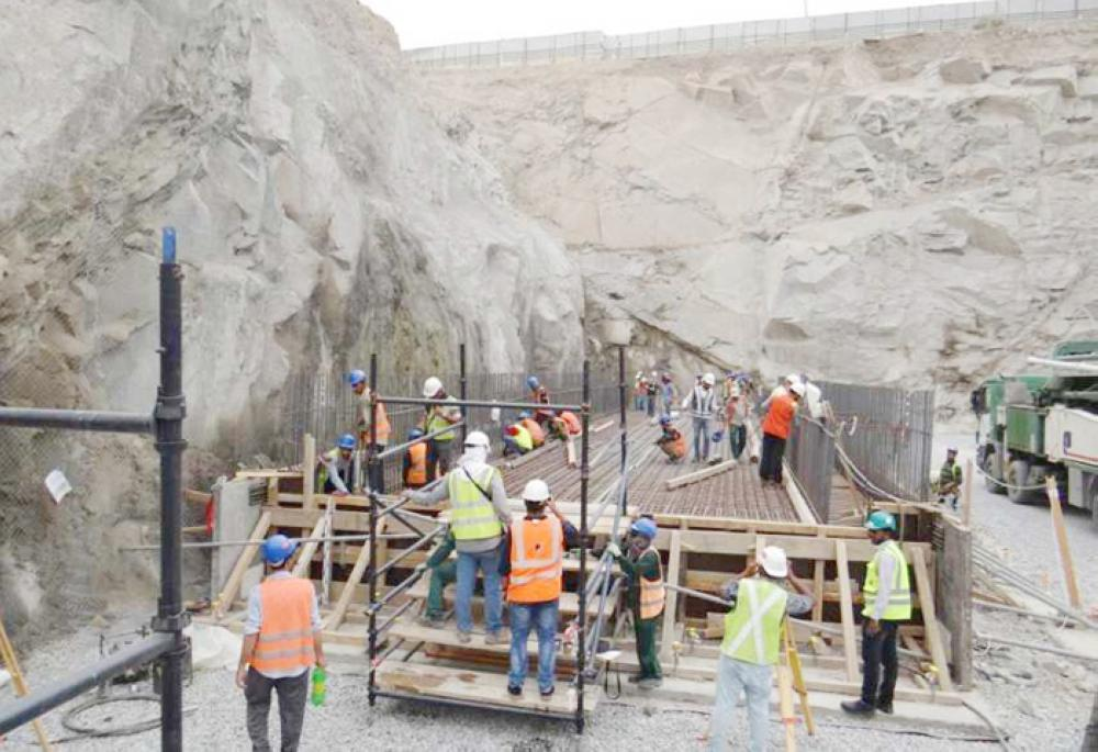 """First phase of the launch of Makkah """"B"""" metro project, Saturday. — Courtesy photo"""
