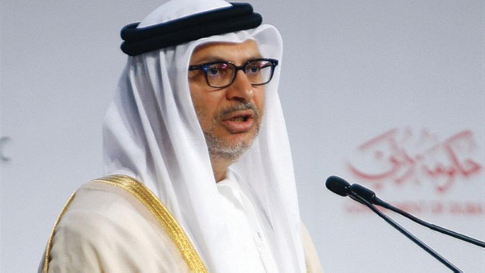 قرقاش: الأدلة واضحة على دعم قطر للإرهاب