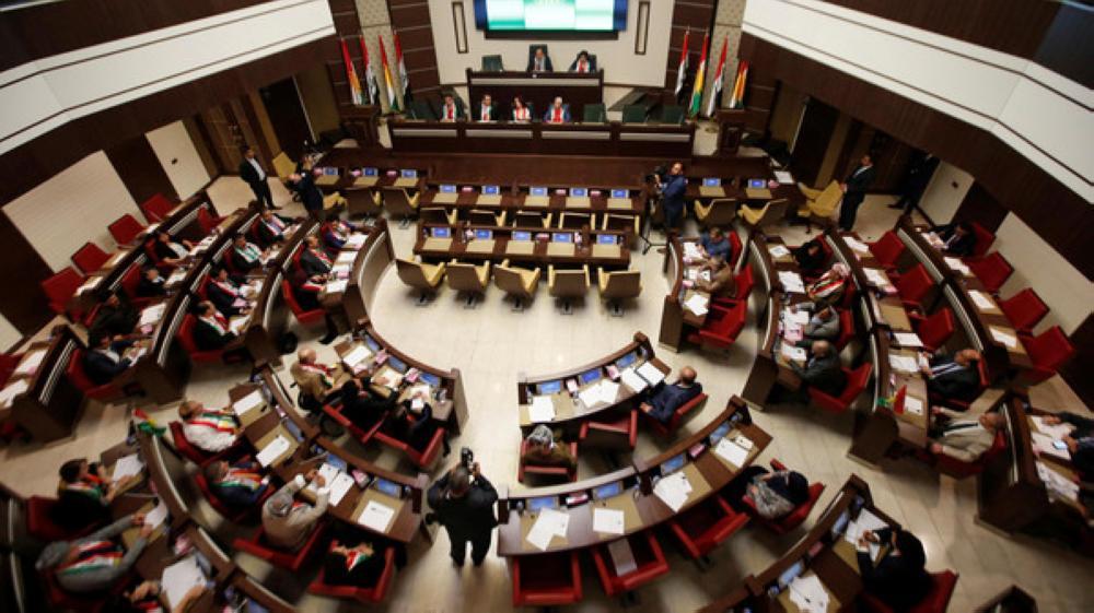 أعضاء البرلمان الكردي في أربيل.