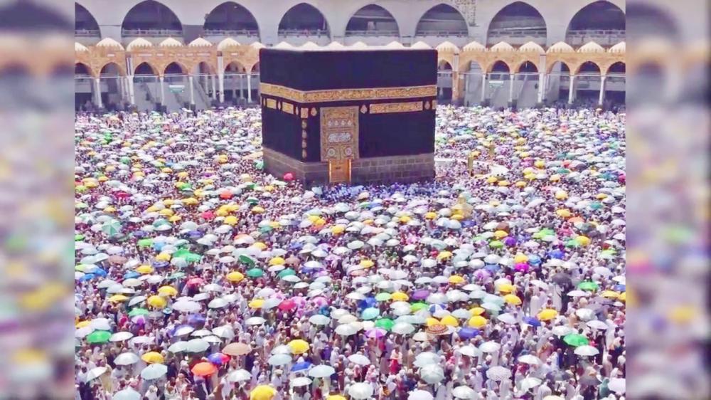 صحن الطواف في ثاني أيام عيد الأضحى، أخيراً.