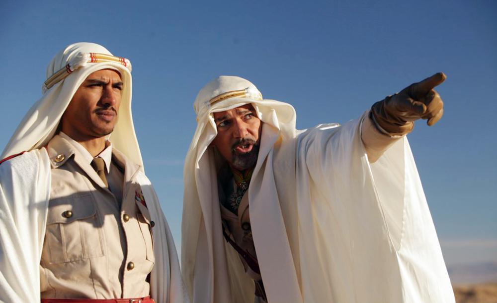 مشهد من الفيلم الذي تدور أحداثه في الجزيرة العربية.