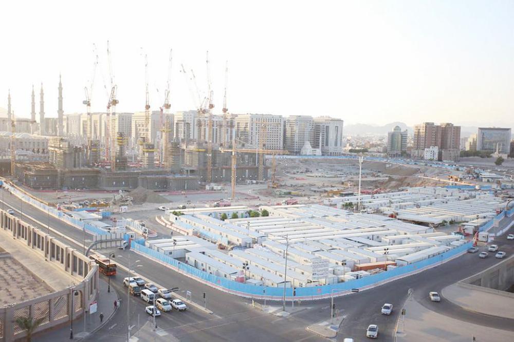 استمرار عمليات توسعة المسجد النبوي الشريف. (تصوير: أحمد القحطاني)