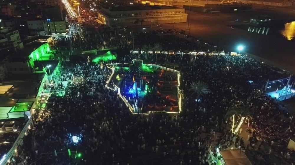 100 ألف زائر لمهرجان البحر والسماء في ينبع