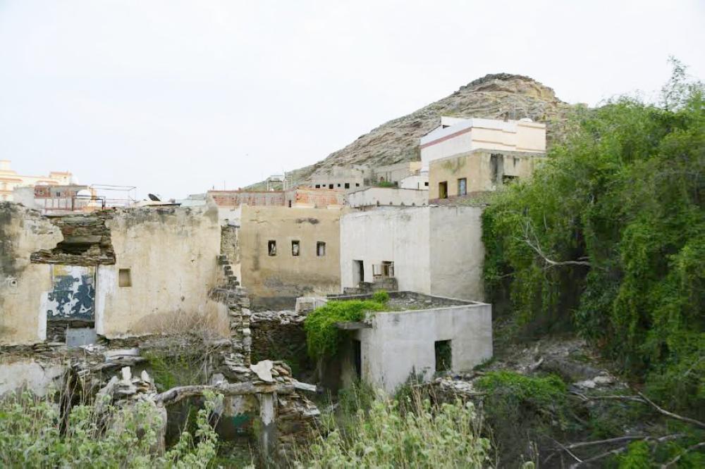 بيوت متهالكة في حي الشرعة.   (تصوير: أحمد محاضي)