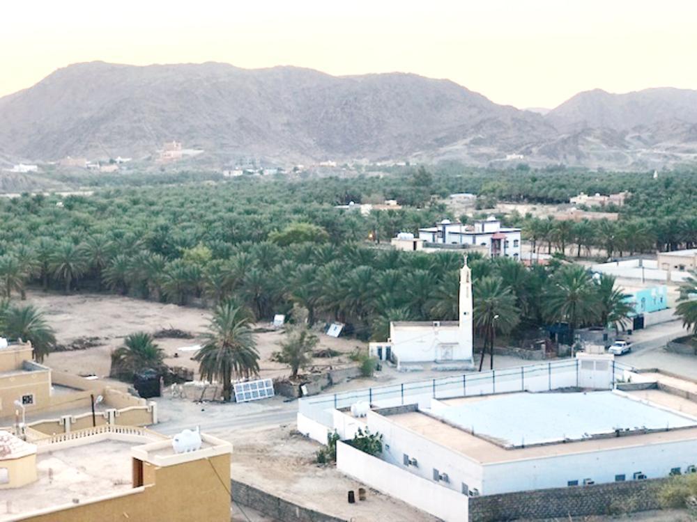 قرية جلان كما بدت من قمة الجبل. (تصوير: فائز عتيق)