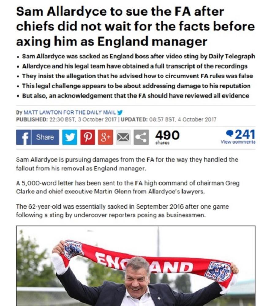 ضوئية من صحيفة الديلي ميل الإنجليزية