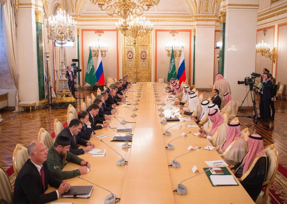 King Salman and Putin Hold Session of Official Talks
