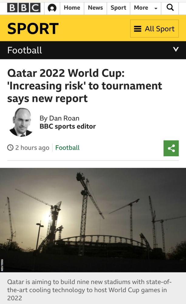 تقرير دولي: شكوك متزايدة حول استضافة قطر مونديال 2022