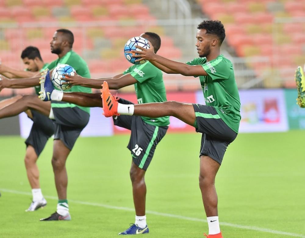 الأخضر يختتم تدريباته استعداداً لمواجهة منتخب جامايكا