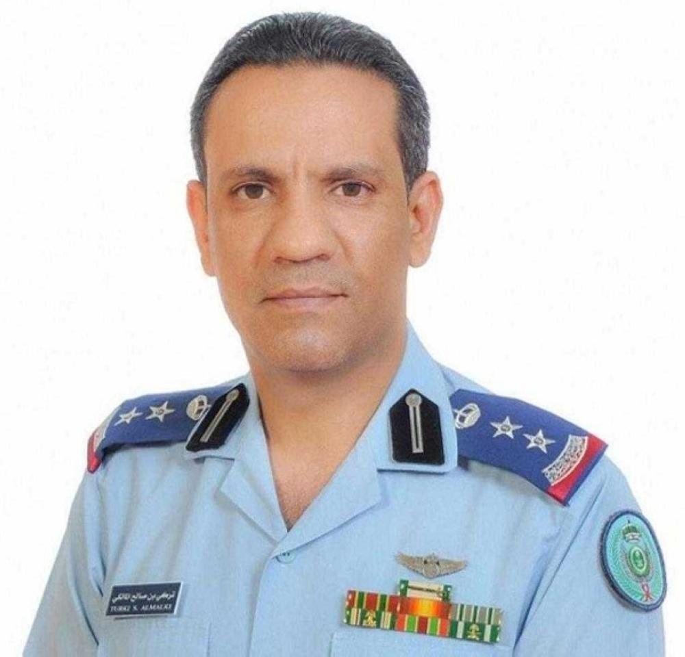 The spokesman for the Arab Coalition Forces, Col. Turki al-Malki.