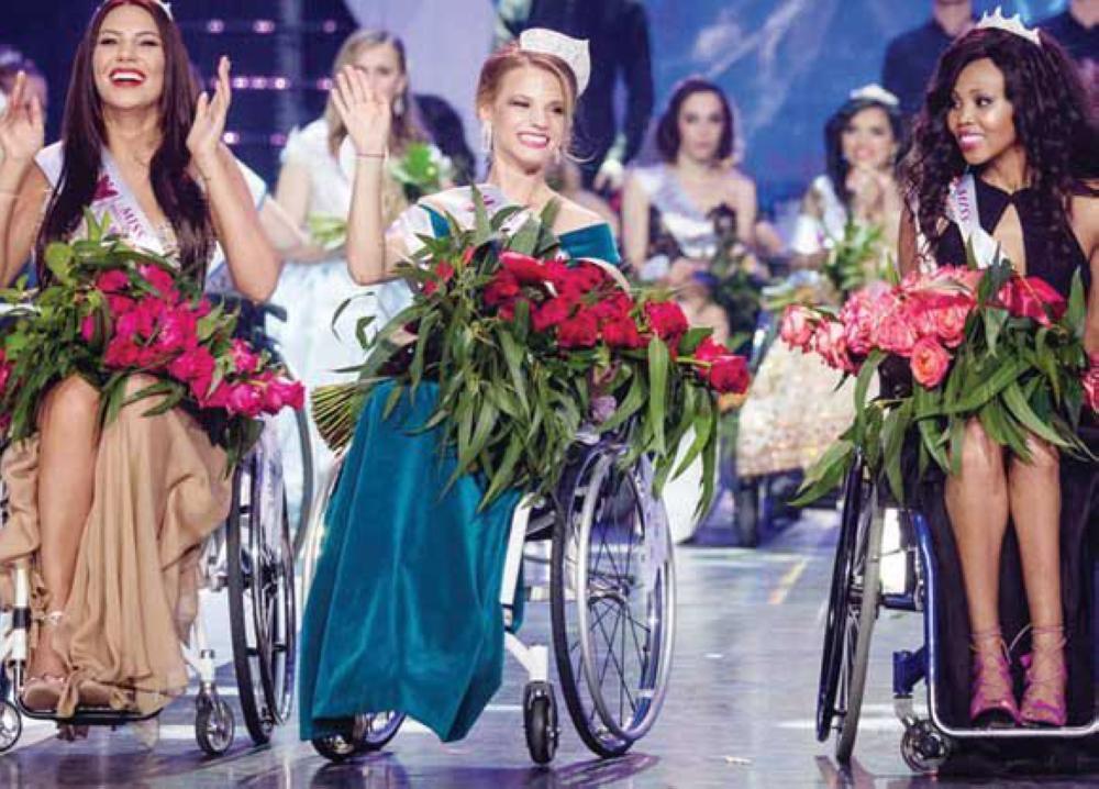 ملكة جمال ذوي الاحتياجات تحارب الإرهاب على كرسي متحرك