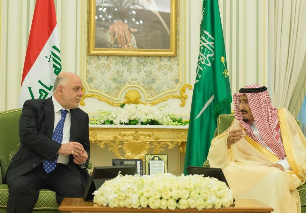 King Salman Holds talks with Iraq's Prime Minister