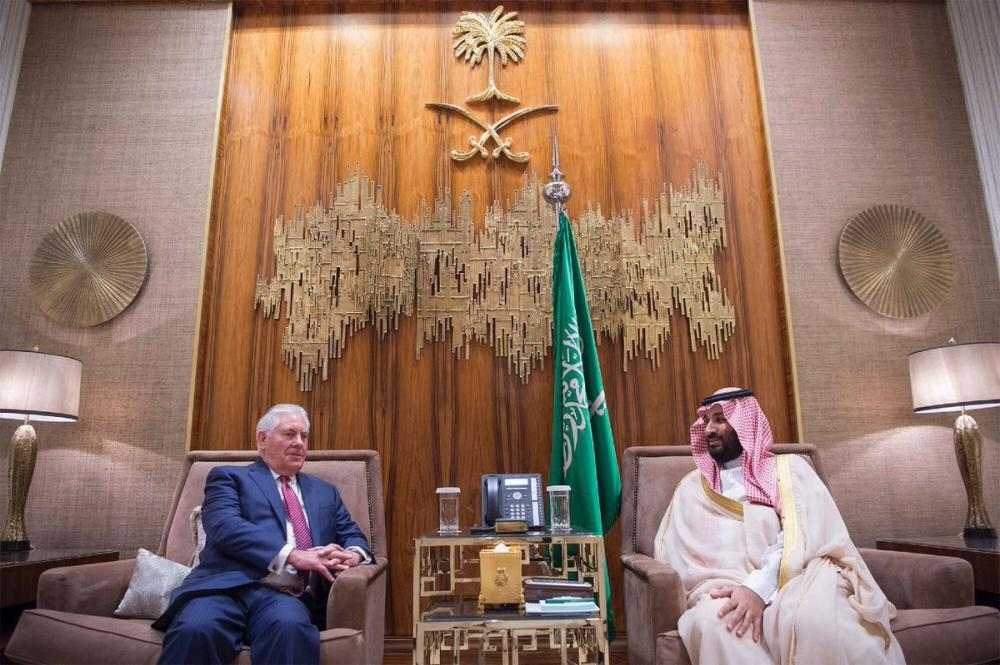 Crown Prince and US Secretary of State Discuss Joint Efforts in Combating Terrorism