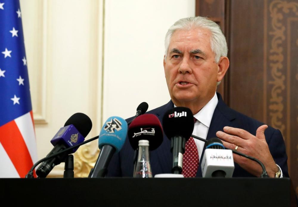 تيلرسون من الدوحة: لا نية لدى واشنطن لفرض أي حل على أطراف الأزمة الخليجية