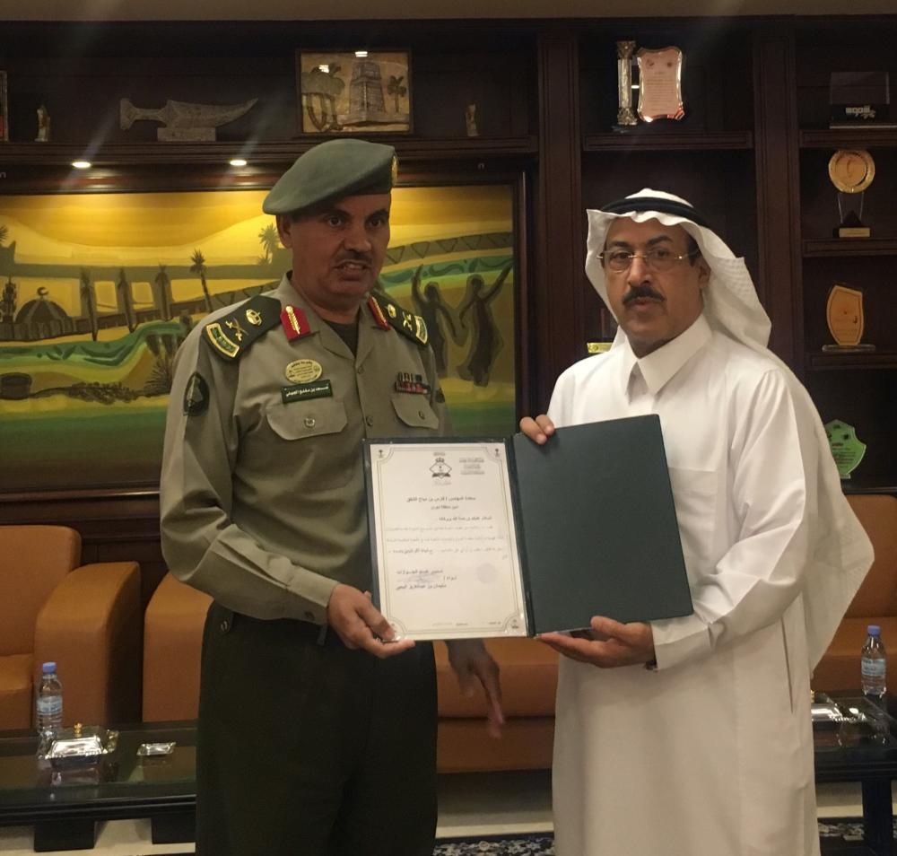 مدير عام الجوازات يكرم أمين منطقة نجران أخبار السعودية صحيفة عكاظ