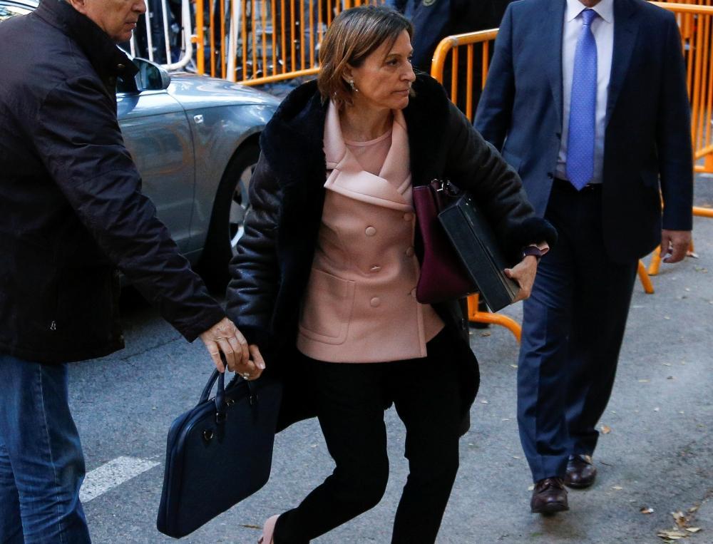 رئيسة البرلمان الكاتالوني الانفصالية أمام القضاء