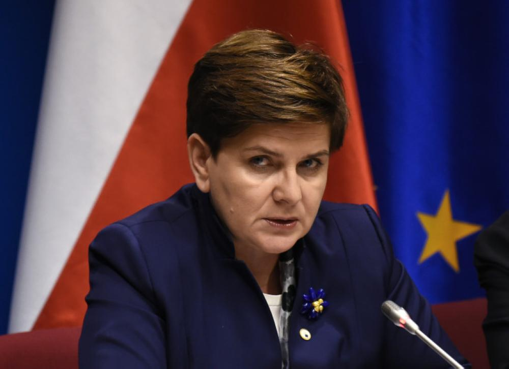 Polish Prime Minister Beata Szydlo holds a press conference during a summit at the European Union (EU) Council in Brussels on December 18, 2015.   / AFP / JOHN THYS        (Photo credit should read JOHN THYS/AFP/Getty Images)