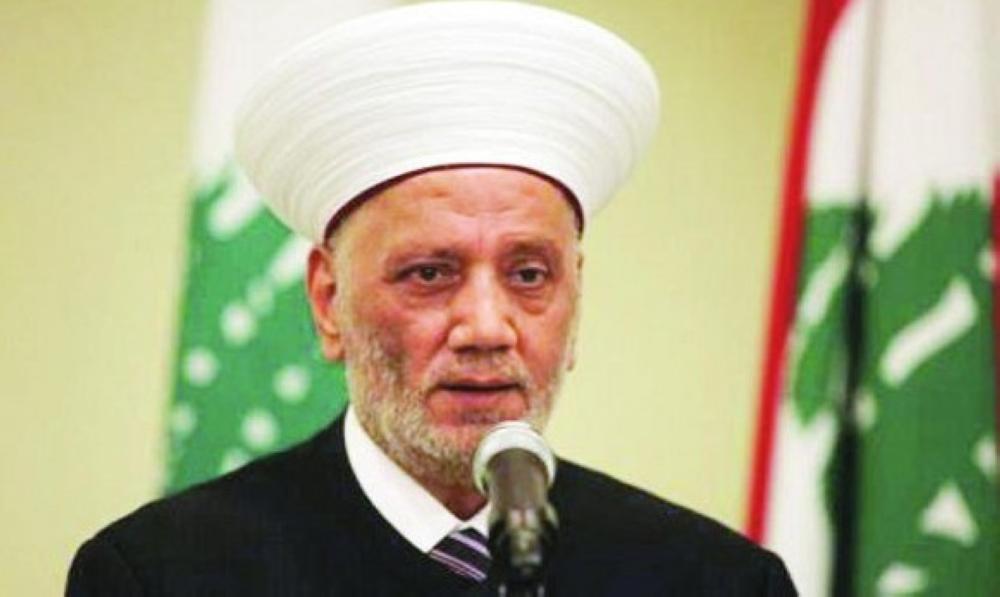 مفتي لبنان يدعو للوحدة الوطنية