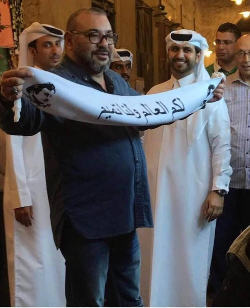 الصورة المفبركة التي روج لها الإعلام القطري