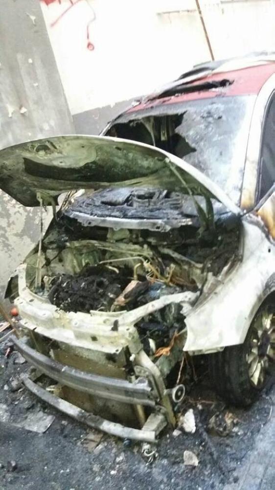 السيارة المحترقة