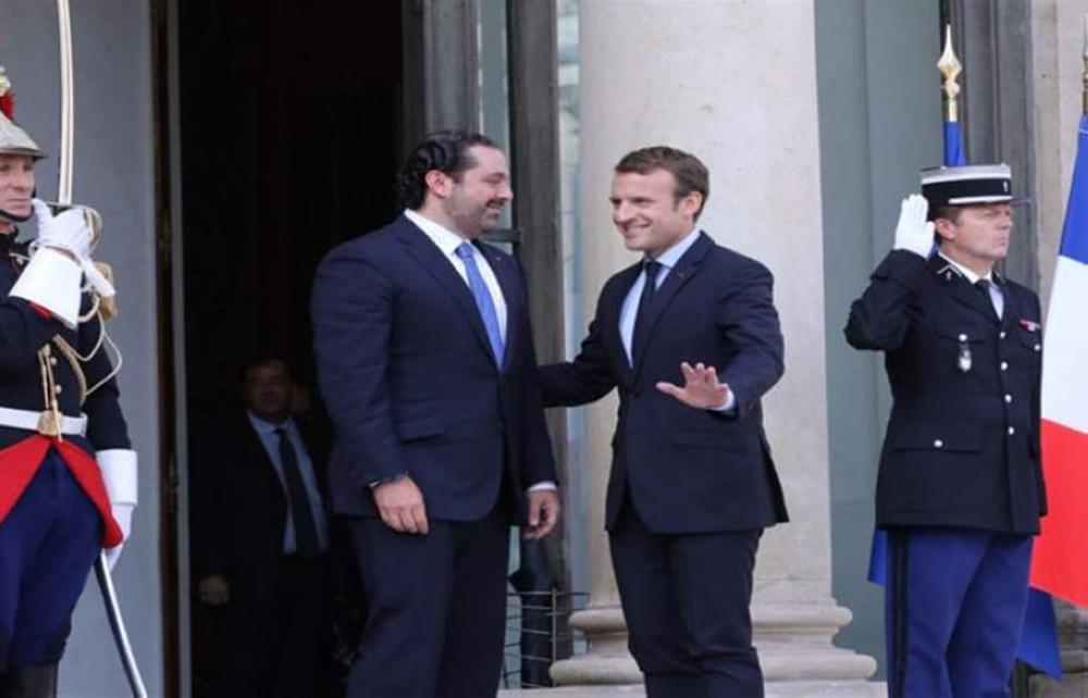 رئيس الحكومة اللبنانية المستقيل سعد الحريري يصل إلى باريس