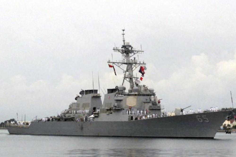 اصطدام سفينة تجارية يابانية بالمدمرة «بينفولد»