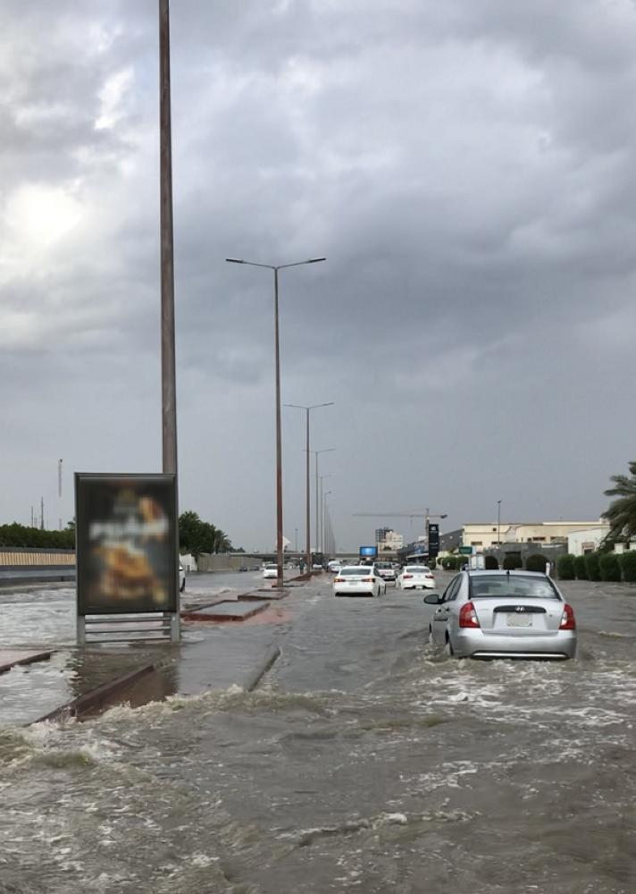شوارع غمرتها مياه الأمطار