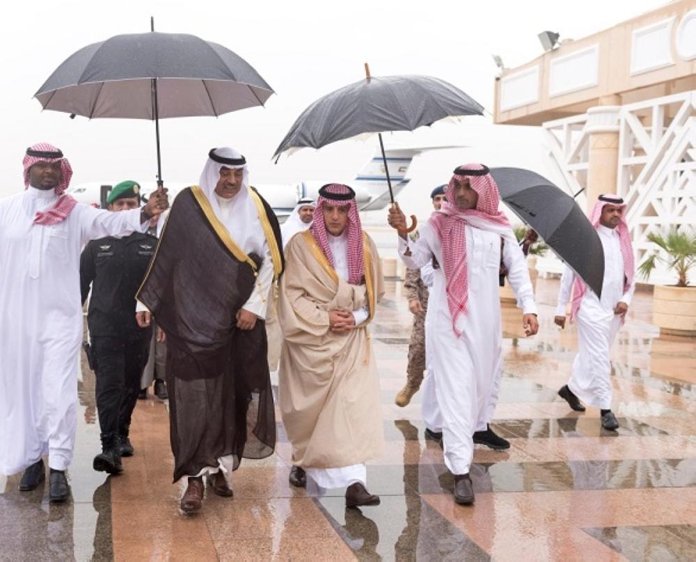 وزير خارجية الكويت يصل الرياض