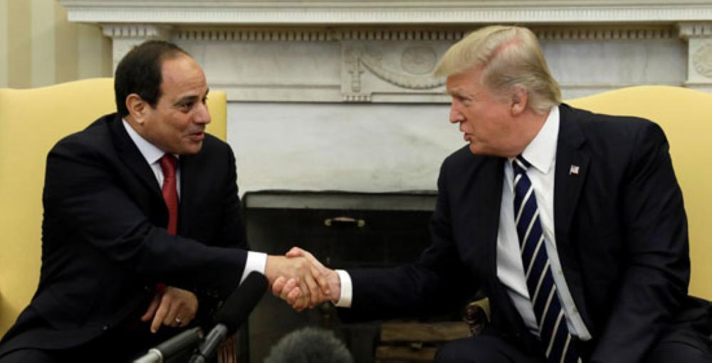 ترمب يؤكد للسيسي: نقف إلى جانب مصر في مواجهة الإرهاب
