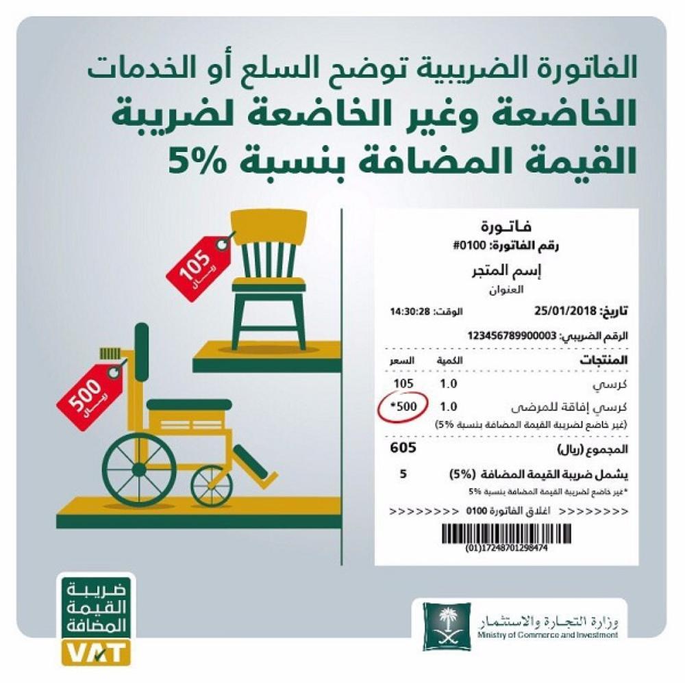 الزكاة والدخل توض ح نموذج فاتورة ضريبة القيمة المضافة أخبار السعودية صحيفة عكاظ