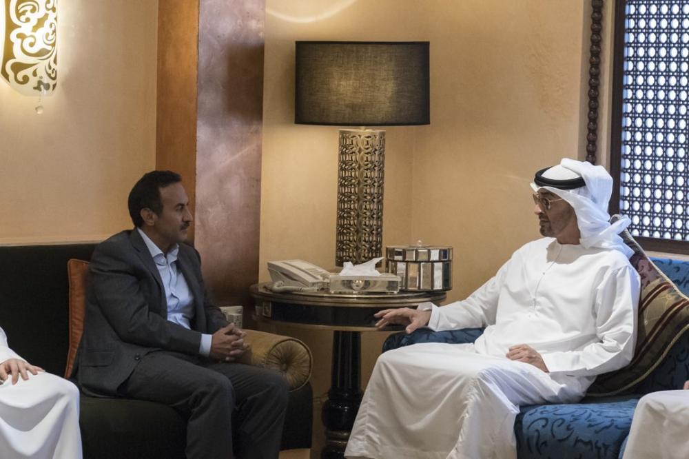 ولي عهد أبوظبي يعزي أحمد صالح  نجل الرئيس اليمني السابق