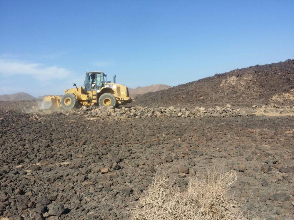 إزالة 30 ألف متر تعديات بـ «حرة الشبحة»