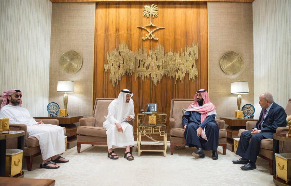 محمد بن سلمان ومحمد بن زايد يبحثان مع اليدومي مستجدات الساحة اليمنية