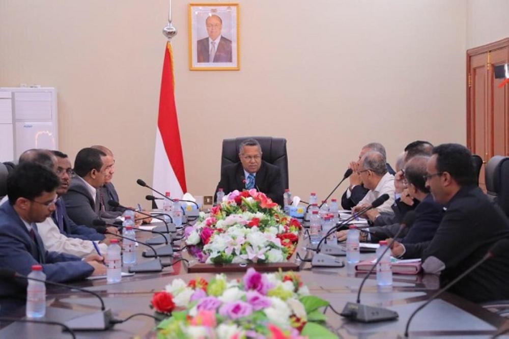 بن دغر خلال اجتماعه باللجنة العليا لإعداد الموازنة العامة للدولة لعام 2018