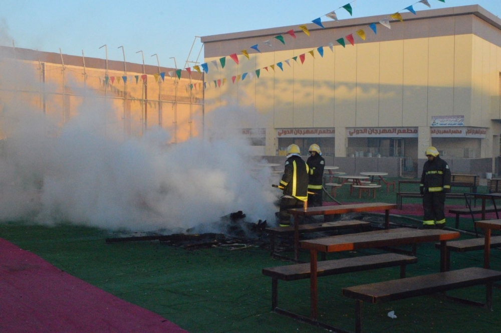 رفحاء: تماس يشعل النيران في مهرجان التسوق