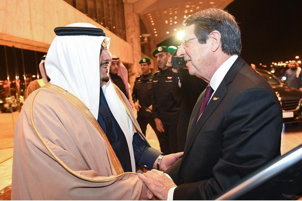 رئيس قبرص يغادر الرياض