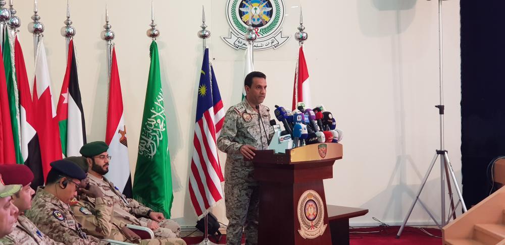 المالكي خلال المؤتمر الصحفي. (تصوير: ماجد الدوسري)